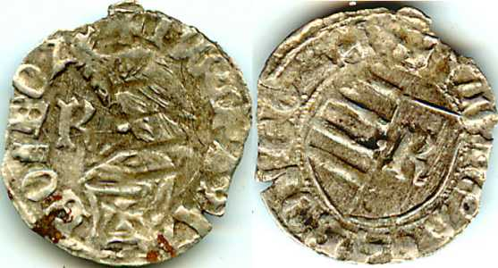 Walachian ducat (Slavic legend) of Mircea the Old - obverse and reverse