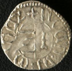 Walachian ducat (Latin legend) of Mircea the Old - reverse