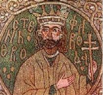 Stephen the Great and the Holy on an epitrachelion from Putna