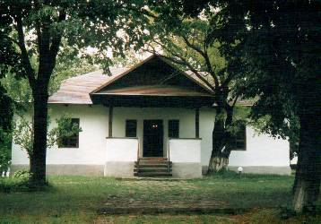 Memorial house Mihai Eminescu from Ipoteşti, in  Botoşani county, erected in 1850 by Gheorghe Eminovici, father of the poet, restored in 1979 on the original foundation - picture from July 2008