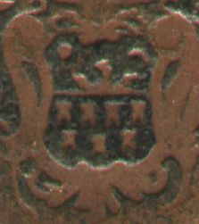 Coat of arms of Transylvania on Habsburg copper greschl 1765 (Kupfer-Greschl) - Maria Tereza