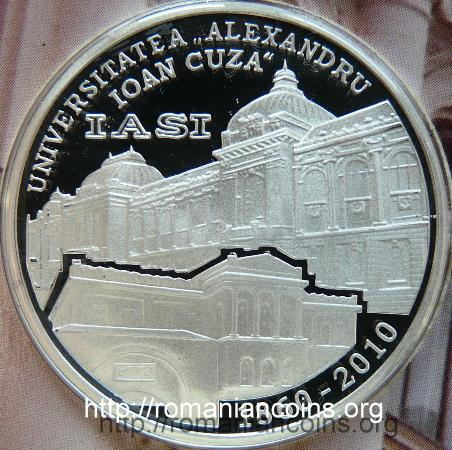 medal of the mint set 2010 - 150 Years Since the Establishment of the Alexandru Ioan Cuza University of Iaşi