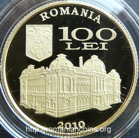 100 lei 2010 - Eugeniu Carada - Founder of the National Bank of Romania - obverse