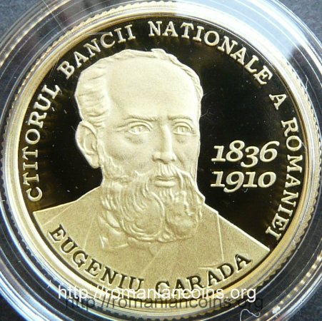 100 lei 2010 - Eugeniu Carada - Founder of the National Bank of Romania - reverse