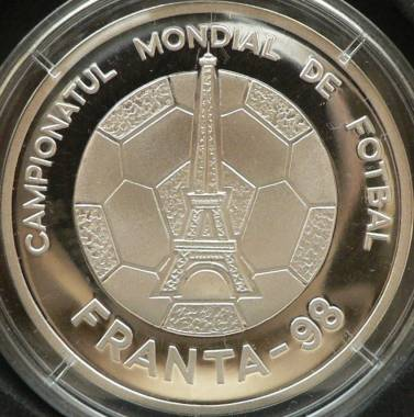 100 lei 1998 Football World Cup France - reverse