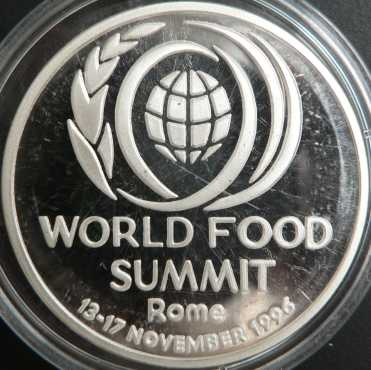 100 lei 1996 - World Food Summit Rome