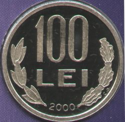 100 lei 2000 - proof