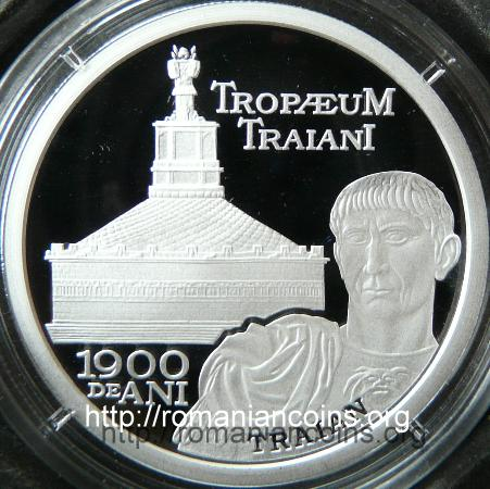 10 lei silver 2009 - 1900 Years since the Inauguration of Tropaeum Trajani from Adamclisi