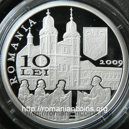 300 Years from the Birth of Bishop Petru Pavel Aron - 10 lei silver 2009 - obverse