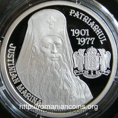 10 lei 2010 - Justinian Marina, the third patriarch of Romania - reverse