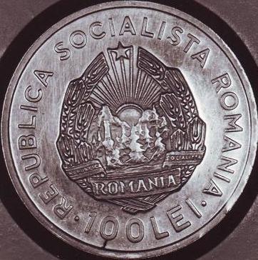 100 lei 1984 - Canalul Dunăre-Marea Neagră - probă monetară