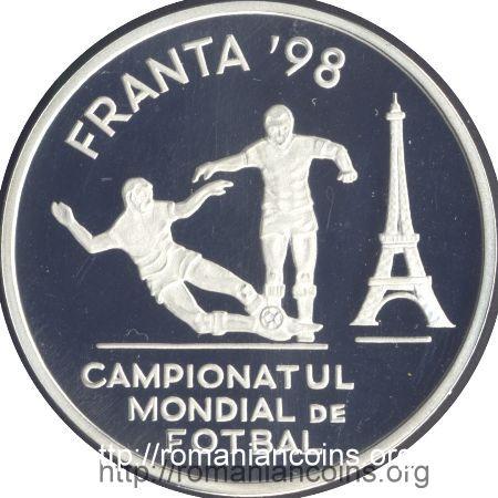 100 lei 1998 Campionatul mondial de fotbal din Franţa ...