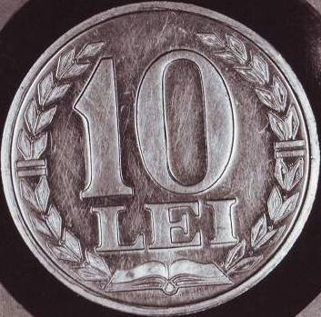 10 lei 1988 - monetary pattern