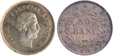 monetary pattern - 50 bani 1869