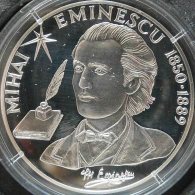 100 lei 2000 - 150 years from the birth of Mihai Eminescu - Republic of Moldova