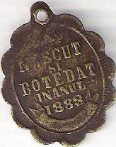 baptism token from 1883