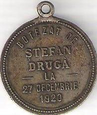 baptism token from 1920