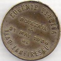 baptism token from 1936