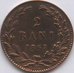 2 bani 1867 Watt & Co.