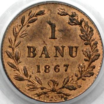 1 ban 1867 - Watt & Co. mint