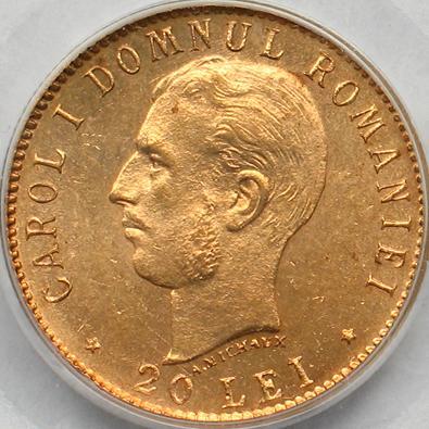 20 lei 1906 - Romanian Coins
