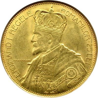 Romanian Coins 25 Lei 1922