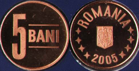 5 bani 2005 - proof quality - from the mint set
